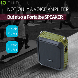 Image 4 - Shidu 18W Draagbare Draadloze Bluetooth Speaker Waterdichte Voice Versterker Met Uhf Microfoon Voor Leraar Ondersteuning Aux Tf Usb Disk