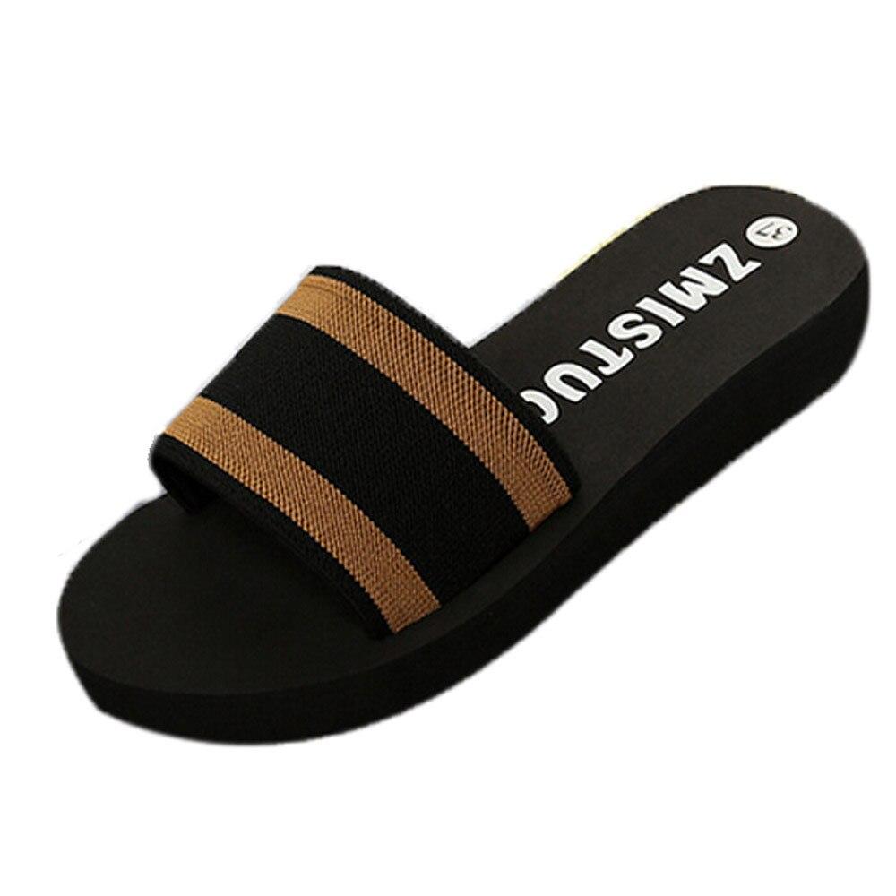 shoes woman Summer Women Shoes Platform Bath Slippers sapato feminino Wedge Beach Flip Flops Female Girls Slippers Shoes A7