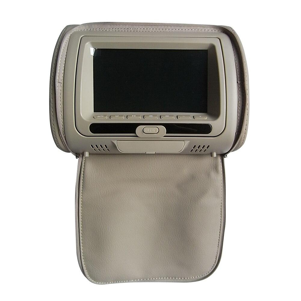 7 дюймов HD подголовник автомобиля Инфракрасный видео динамик на молнии Крышка Регулируемый ЖК-экран многофункциональная игра USB монитор dvd-плеер - Color: Beige