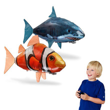 RC Air Swimming Fish Toys Drone RC Shark Clown Fish Balloons Nemo Inflatable with Helium Plane Kids RC Toys Party Birthday Gift