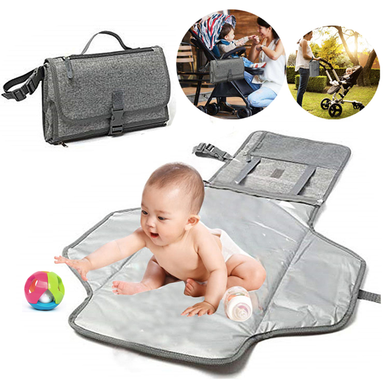 New Baby Portable Changing Pad Diaper Bag Travel Changing Mat Station Soft Flexible Travel Mat Baby Care Products