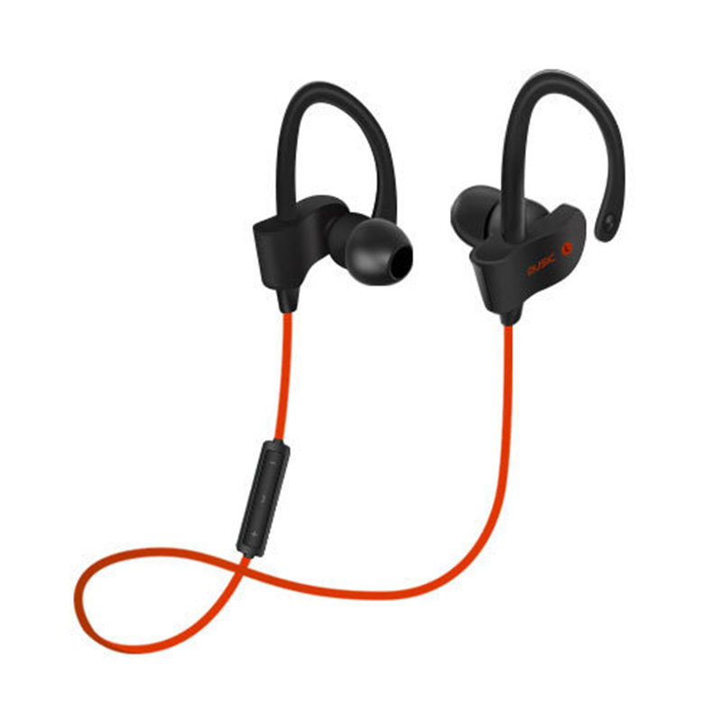 free shipping 2017 newest black blue smart expensive noise suppression running earphones sports thought suppression