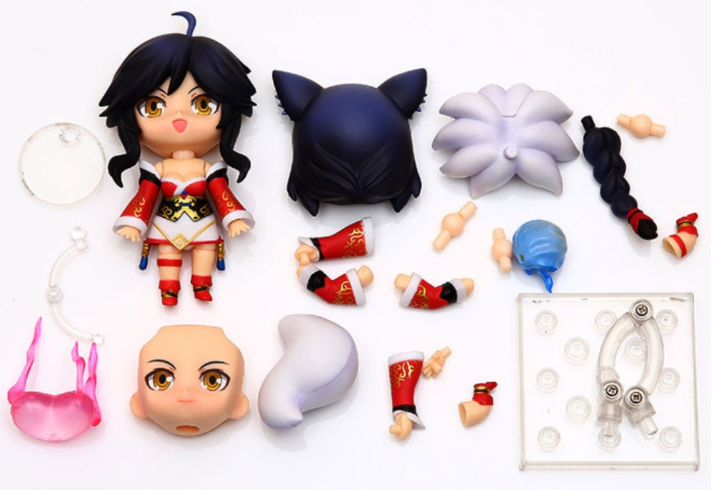 10cm Anime LOL 411 Ahri Nendoroid PVC Action Figure movable Model Doll Collection Toys Kids Christmas gifts 1