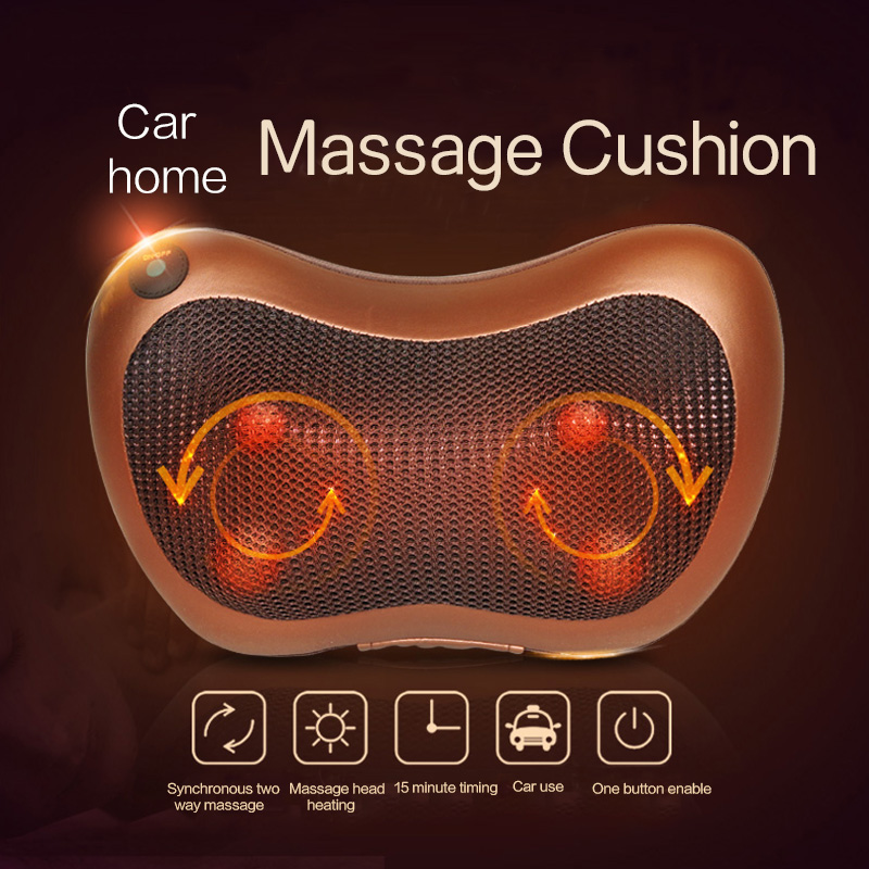 Neck Massager Shoulder Back Leg Body Massage Pillow Electric Shiatsu Spa Home/Car Relaxation Pillow with LED Light Heat massager-in Massage & Relaxation from Beauty & Health