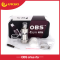 Original OBS Crius RTA atomizer 4.2ml Vaporizer RTA Tank top side fill easy sub ohm atomizer for electronic cigarette