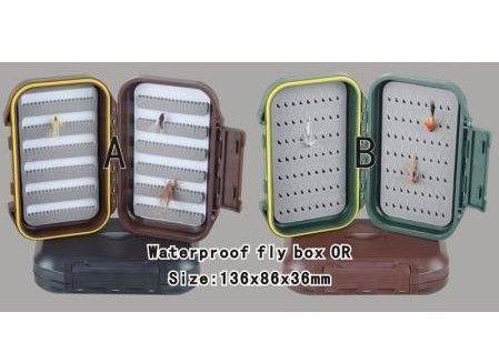 wholesale  30pcs/lot  high quality Exclusive New hard prastic  waterproof fly box OR