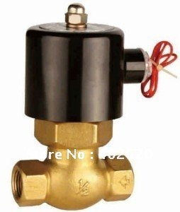 ФОТО Free shipping, 2pcs 3/4'' Ports solenoid valve model 2L-170-20-220V for steam 180C,  US-20  PTFE Guide brass Valves