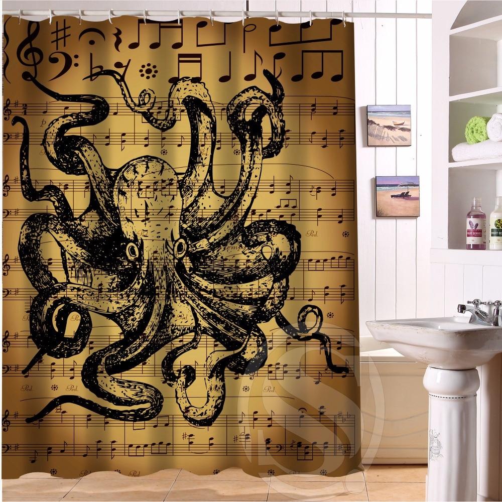 hp68 fashion design octopus 22 custom shower curtain bathroom decor various sizes free
