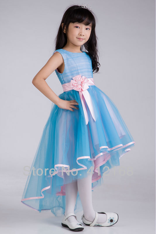 Newborn Girl Dresses Plus Size Flower Formal Light Pink Confirmation  Scalloped Tank Sleeveless Tiered Princess Mid 2015 Discount-in Flower Girl  Dresses from ... a143415076b1