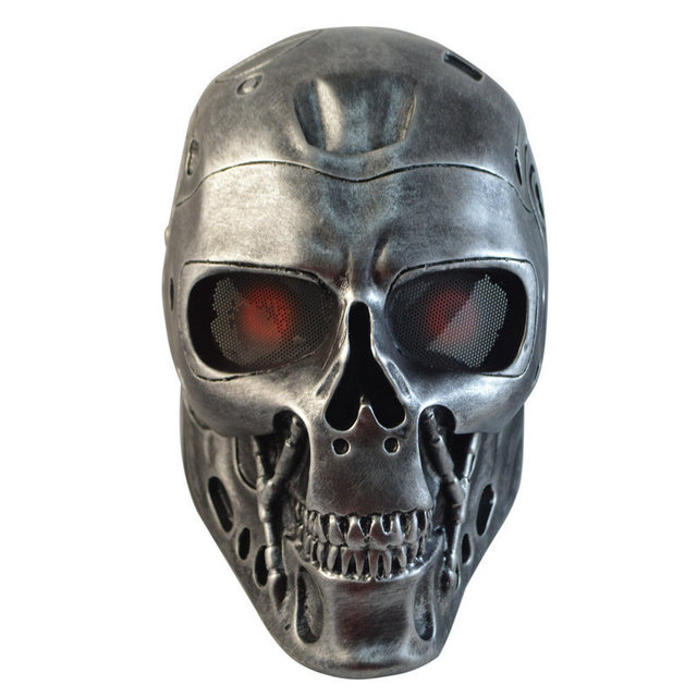 Terminator Airsoft Paintball Mascarilla facial máscara de calavera Máscara de La Mascarada de halloween Cosplay Película Prop Realista máscara del horror