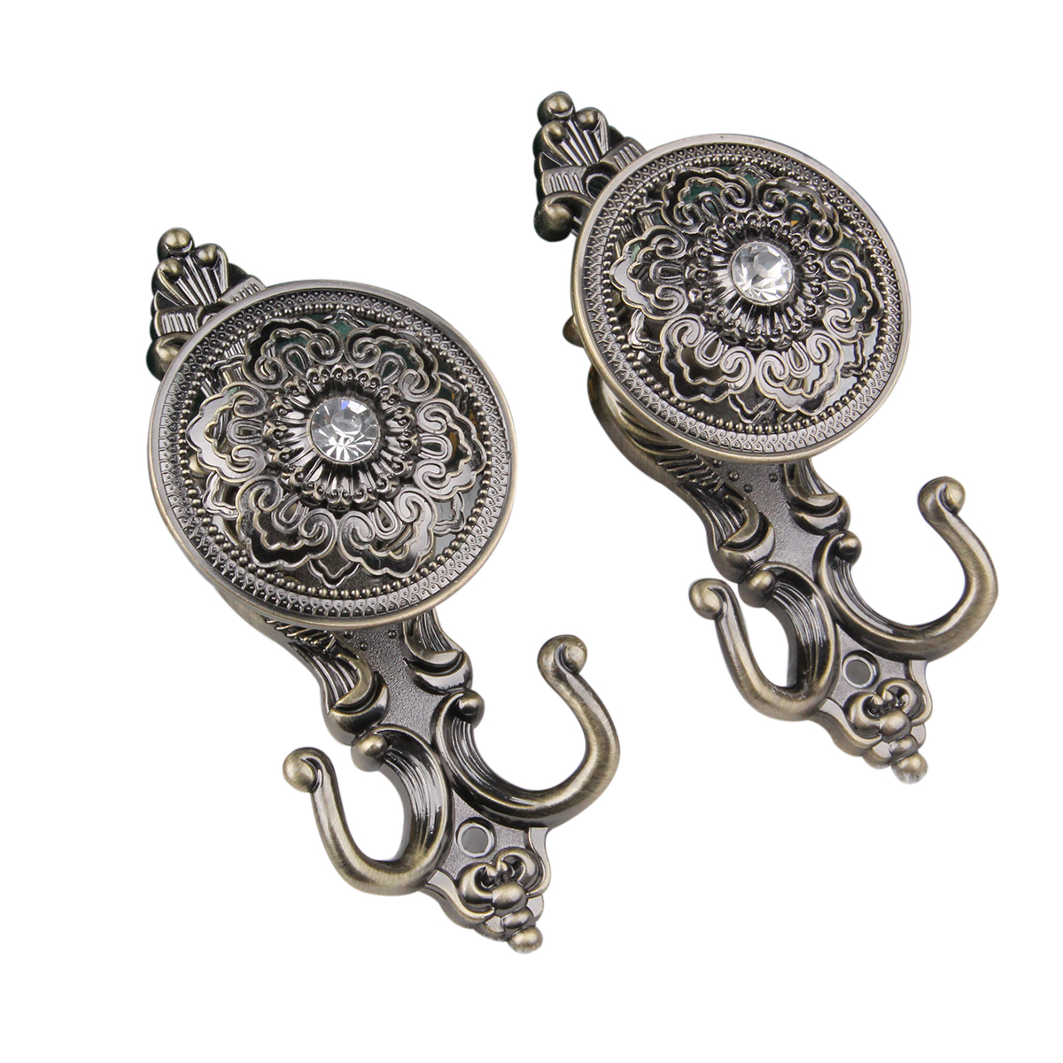 Antique Bronze Curtain Tie Backs Us 7 96 40 Off Pair Of Rose Style Drapery Curtain Holdbacks Tieback Hooks Bronze In Curtain Decorative Accessories From Home Garden On