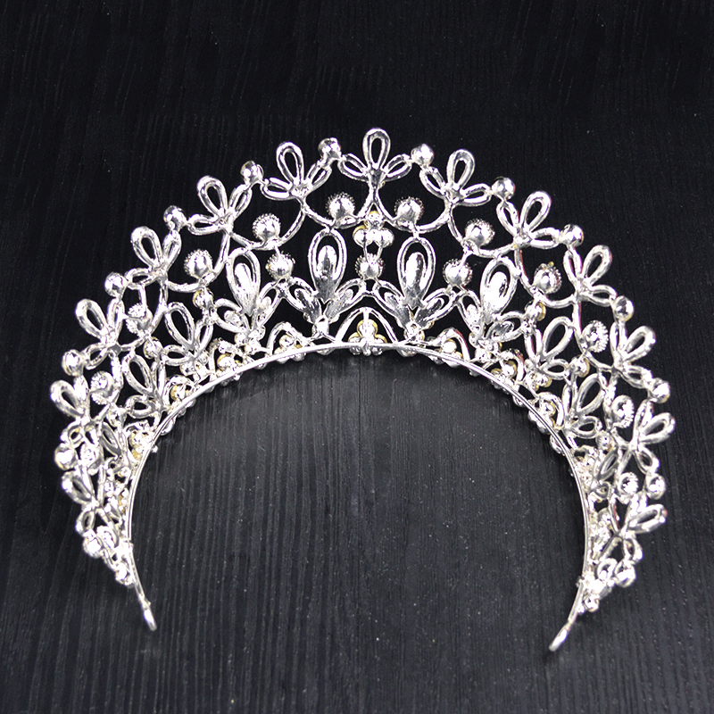 Image 5 - New Gold Silver Color luxury Big Crystal Tiaras Ctrstal Rhinestone Pageant Crowns Baroque Wedding Hair Accessories HG 036-in Hair Jewelry from Jewelry & Accessories
