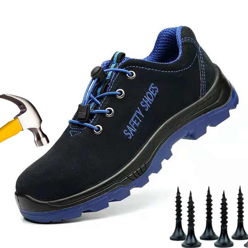 a64089e62da Men Boot Work Safety Boot Fashion Sneakers Men Shoes Steel Toe Military  Boots Combat Ankle Boots Men Anti-smashing Safety Shoes