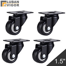 Alta portante, 1.5 pollice PU Ruote/ruote, Ruota Mute/Indossabile, PER Divano, mobili, carrelli, CASA/Industriale Hardware