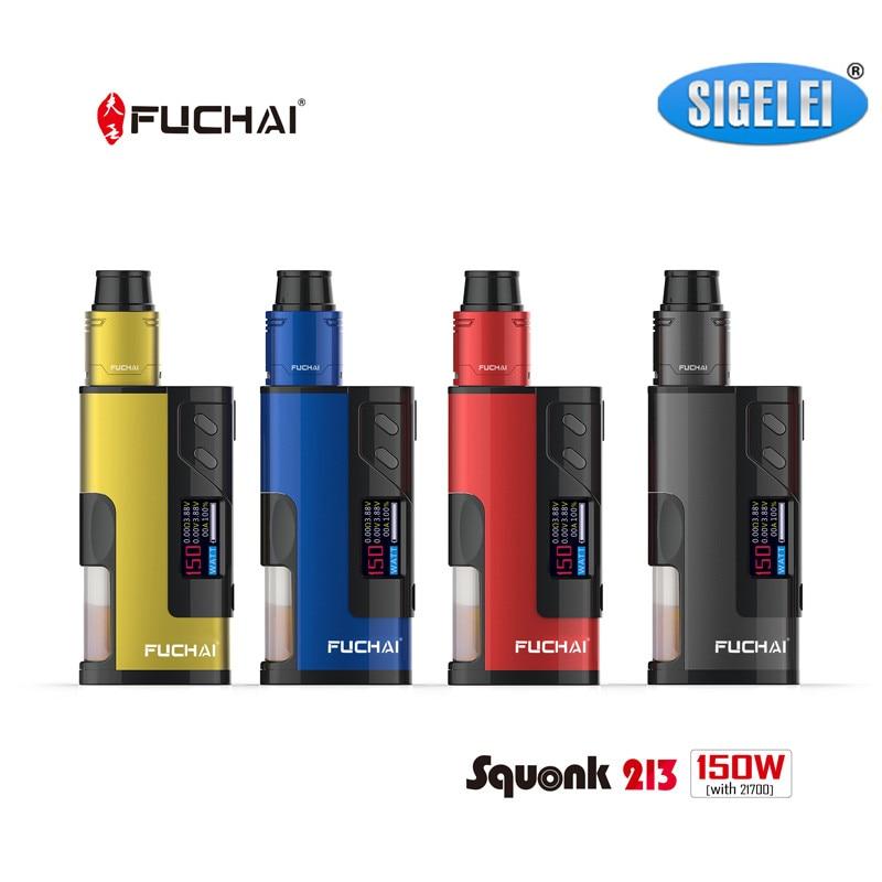 Preorder!! Sigelei Fuchai Squonk 213 Box Mod Kit 150w Vape Mod Electronic Cigarette Kit 5ml Tank aluminium alloy+zinc alloy батарейный мод sigelei fuchai 213w plus