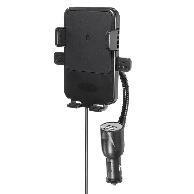 Wireless font b Car b font Charger 2 USB Charger Phone Holder Mount Cigarette Lighter Charging