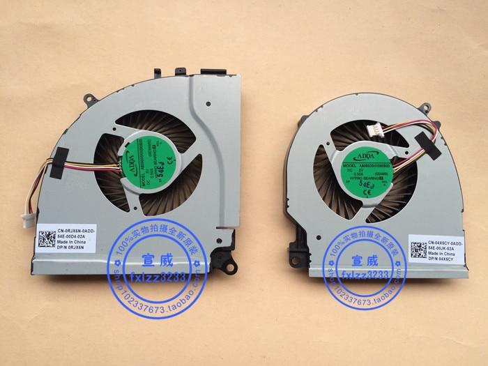 New Dell Ins15P-1548 7000 7557 7559 Cpu Cooling Fan DP//N:0RJX6N DP//N:04X5CY L+R
