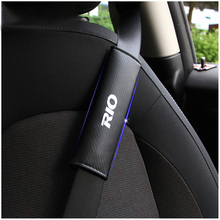 2PCS Reflective Car Seat belt shoulder Pads Safe Belt Cover For KIA RIO Styling Auto Parts Accessories