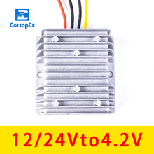 12V-24V to 4.2V 10A 15A 20A 25A 30A DC Converter Power Supply Low Power Buck 12V-24V to 4.2V Car Transformer Power Converter universal dc 24v to 12v 30a car power converter supply transformer black