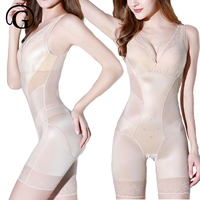 PRAYGER New Women Magnetic Lace Bodysuits Sexy Invisible Push Up Bras Body Shaper Lift Butt Shapewear Slimming Waist Underwear