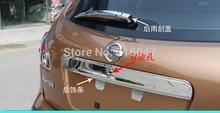 Abs Chrome Rear Trunk Lid recortar cubierta encajen para 2007 2008 2009 2010 2011 2012 Qashqai Dualis ( con llave kole )