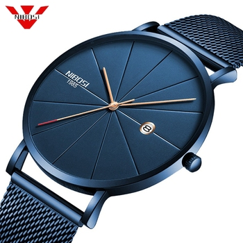 50pcs/lot DHL Free Shipping NIBOSI 2321 Simple Mens Watches Clock Quartz Watch Men Slim Waterproof Sport Watch Relogio Masculino