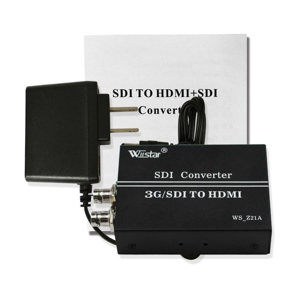 Wiistar 3G SD HD SDI to SDI HDMI Video Converter with SDI Loop BNC to HDMI