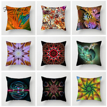 Fuwatacchi Gorgeous Flowers Geometric Cushion Cover Phantom Butterfly Pillow Case For Chair Sofa Room Decoration Pillowcase