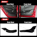 4pcs Fabric Door Protection Mats Anti-kick Decorative Pads For Fiat Bravo 2008-2011