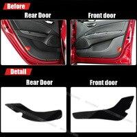 4pcs Fabric Door Protection Mats Anti kick Decorative Pads For Fiat Bravo 2008 2011