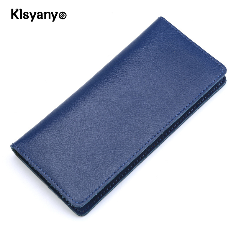 Klsyanyo Soft Genuine Leather Fashion Men Women Wallets Long Design Purse Female Long Clutch Purse Card Holders Portefeuille 2017 unique design women fashion leather wallet leisure clutch bag long purse girl female portefeuille mme a8