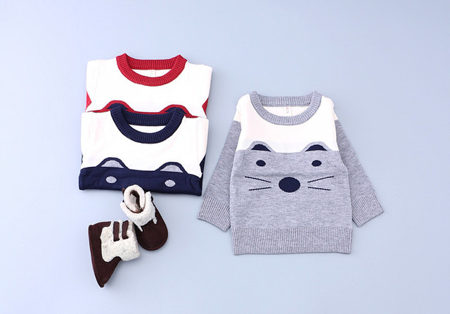 Children Cartoon Cat Pattern Coat Girls Sweaters Kids Clothes Boy Cardigan Clothing Cotton Sweater For Boys Tops Outerwear Girl