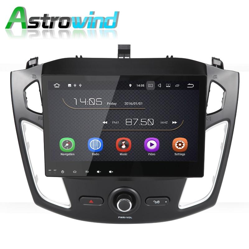 Автомагнитола 10,1 дюйма, Android 8,0, стерео, аудио, видео, GPS, навигация для Ford Focus 3 2012