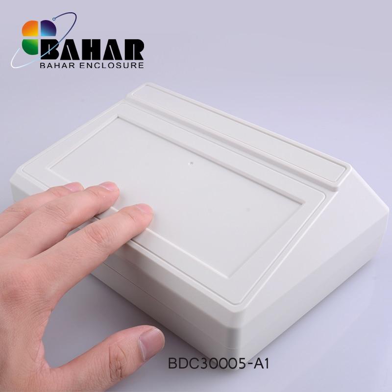 Bahar Desktop ABS Plastic Enclosure Box Electronic Project Instrument Case Electrical Project Box Outdoor Junction Housing