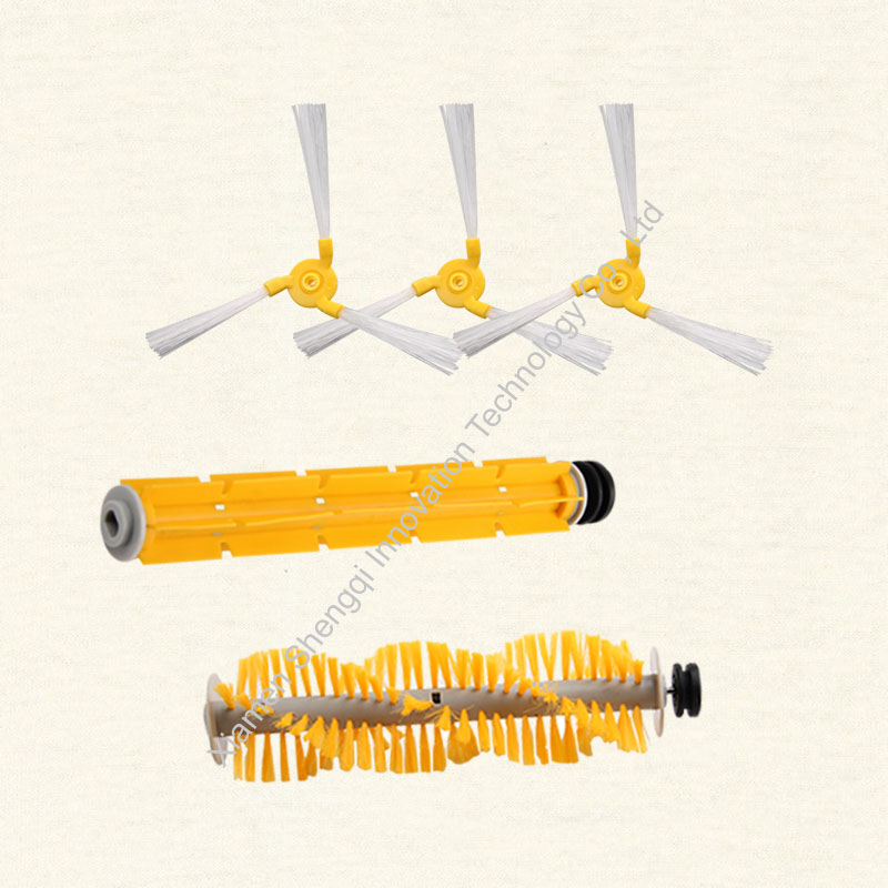 Original A325 Robot Vacuum Cleaner Side brush*3,  Rubber brush*1 and Hair brush*1 02023 clutch bell double gears 19t 24t for rc hsp 1 10th 4wd on road off road car truck silver