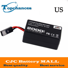 US High Quality 2000mAh 11.1V Powerful Li-Polymer Battery For Parrot AR.Drone2.0 Quadcopter best seller li polymer battery 3 7v 500mah li polymer battery for jjrc h37 rc quadcopter wholesale high quality