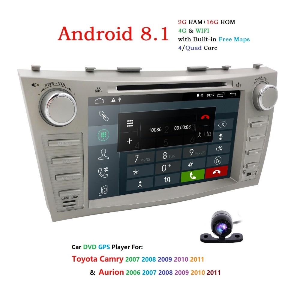 1024 * 600 android 8.1 auto GPS navigace dvd pro Toyota camry 2008 - Elektronika Automobilů