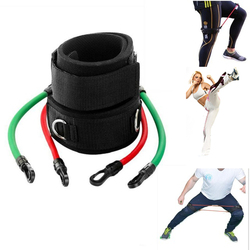 Training workout leg fitness strength resistance kinetic tube bands for power kick boxing thai punch karate.jpg 250x250