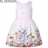 Girls Dress Summer 2017 Brand Children Dress Princess Costume Robe Enfant Fille Flower Kids Clothes Girls