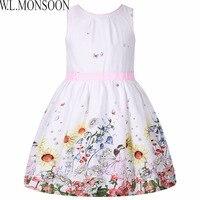 Girls Dress Summer 2017 Brand Children Dress Princess Costume Robe Enfant Fille Flower Kids Clothes Girls