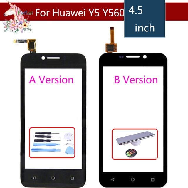 Y5 شاشة تعمل باللمس لهواوي Y5 Y540 Y560 Y541 Y541 U02 Y560 L01 LCD لمس الاستشعار محول الأرقام استبدال لوحة الزجاج