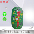 BTS-012P флаг Португалии 2 4 ГГц оптическая беспроводная мышь оптическая мышь 1200 DPI Беспроводная мышь для компьютера ПК