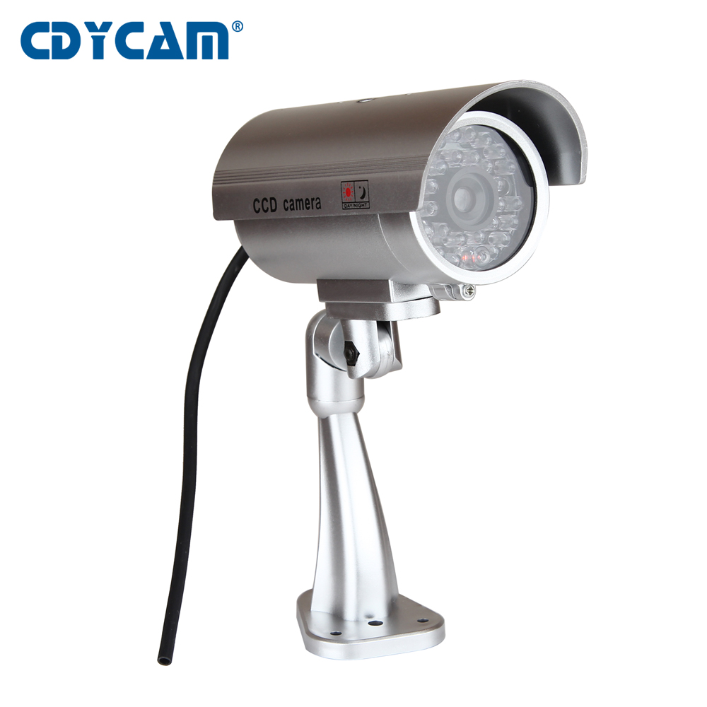 Cdycam Outdoor Waterproof Dummy Fake Camera Indoor Deter Theft Toy Camera Home Bullet Security CCTV Camera With Flash LED Light wistino cctv camera metal housing outdoor use waterproof bullet casing for ip camera hot sale white color cover case