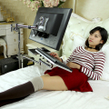 Bedside Moving Laptop Stand Adjustable Sofa Laptop Mount Computer Monitor Holder +Keyboard Holder Rotating Laptop Table Lapdesks