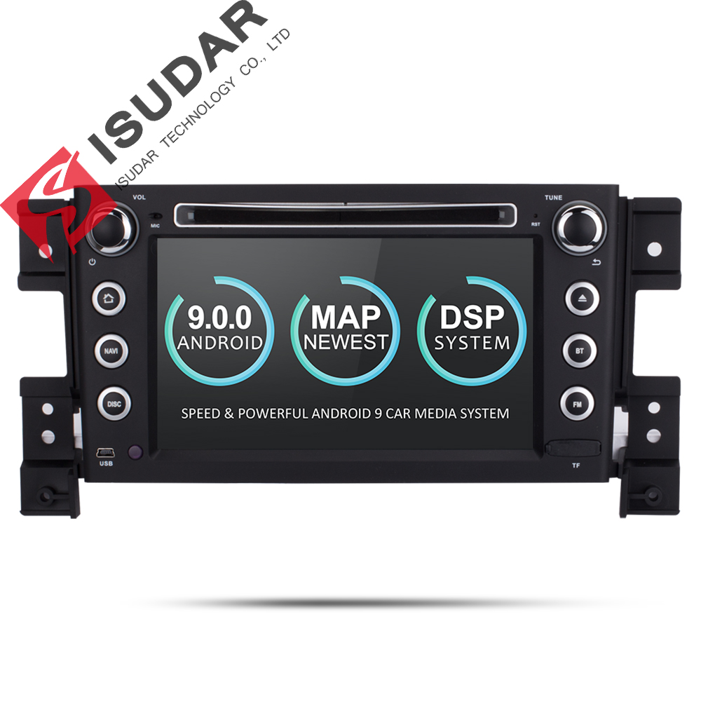 Isudar Autoradio For SUZUKI/Grand Vitara Car Multimedia player Android 9 2 Din DVD player GPS 4 Core RAM 2GB ROM 16GB FM RadioIsudar Autoradio For SUZUKI/Grand Vitara Car Multimedia player Android 9 2 Din DVD player GPS 4 Core RAM 2GB ROM 16GB FM Radio