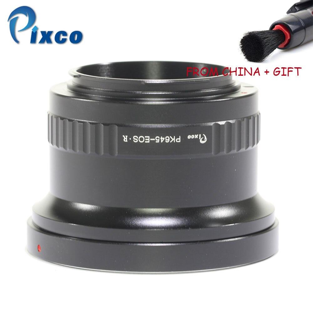 Pixco pour PK645-EOSR monture d'objectif adaptateur anneau pour Pentax 645 objectif pour convenir pour Canon R monture caméra + cadeau