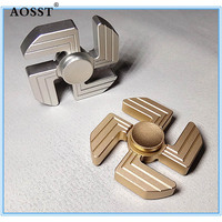 New Type Of Swastika Fidget Spinner Tri Spinner Finger Tip Aluminum Alloy Pressure Relief Anxiety Artifact