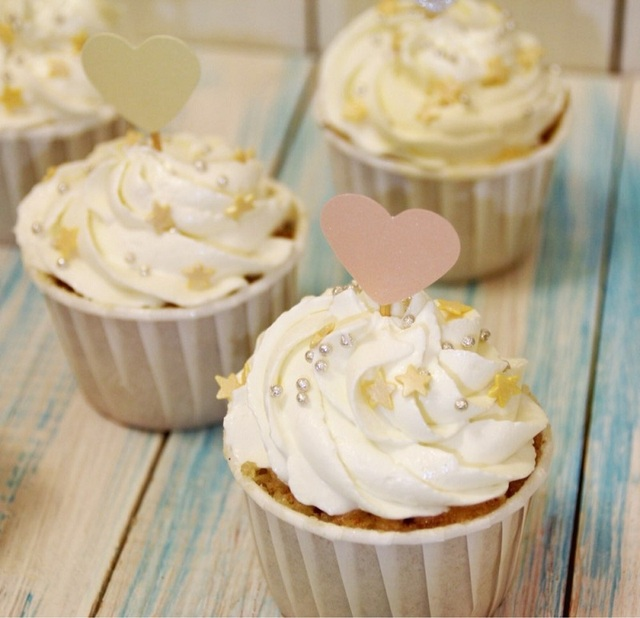 Heart Shaped Cupcake Toppers