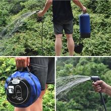 1 комплект открытый Душ мешок 11L ПВХ открытый надувной душ давление водный резервуар для душа переносной походный душ