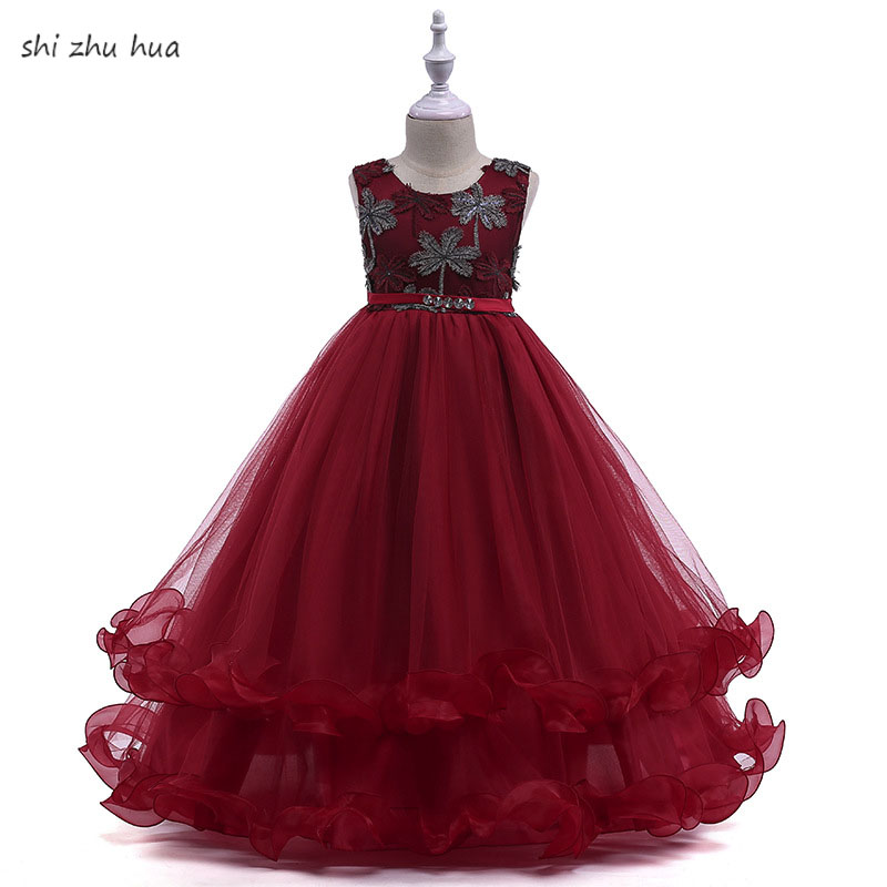 New Childr Clothing /Fashion Lace Dress 2018 Summer Sleeveless Princess Dress Girl Party Evening dress High Quality Kids Clothes